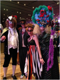Closing night of the conference. Masquerade party.
